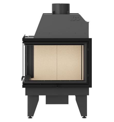 Insert cheminée à bois SIDRA 17 kW 2 vitres versions gauche