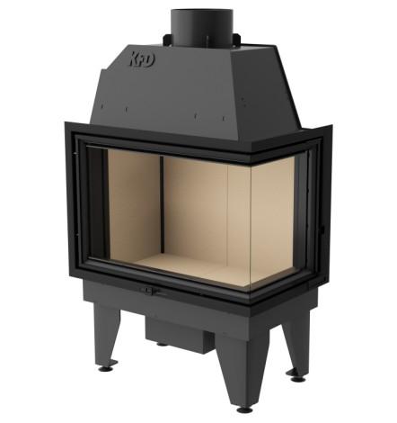 Insert cheminée à bois SIDRA 17 kW 2 vitres versions droite