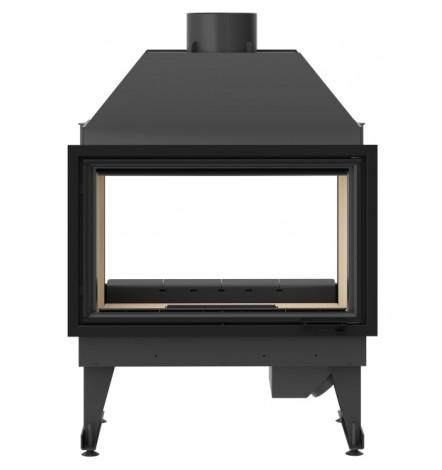 Insert cheminée à bois MOLDI 19 kW  vision sur 2 côtés
