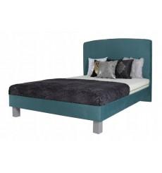 Lit double JUKE avec tête de lit capitonnée 140x200 cm