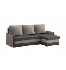 Canapé-lit réversible MILTON gris et Beige 215x135 cm