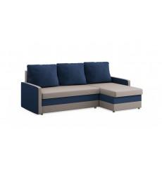 Canapé-lit réversible MILTON gris et bleu 215x135 cm