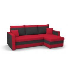 Canapé-lit réversible LOTUS rouge et noir 235x140 cm