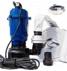 Pompe broyeur  de relevage submersible 25m3/heure avec tuyaux