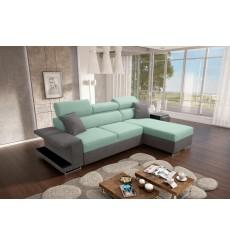 Canapé-lit VICTOR 256x184 cm aigues et gris