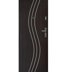 Porte d'entrée FADIA 80 cm H1 CPL wengé