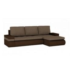 Canapé-lit réversible SANTI 235x140 cm marron angle droit