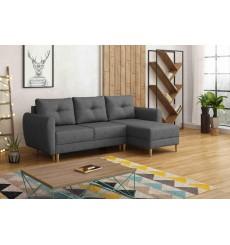 Canapé-lit réversible OSLO 235x145 cm anthracite