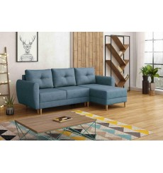 Canapé-lit réversible OSLO 235x145 cm bleu