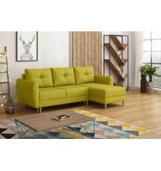 Canapé-lit réversible OSLO 235x145 cm moutard