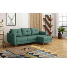 Canapé-lit réversible OSLO 235x145 cm vert
