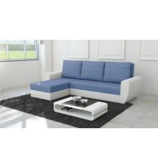 Canapé d'angle convertible réversible Fiesta bleu 250x145 cm
