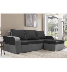 Canapé-lit réversible LIMA 230x140 cm noir et gris