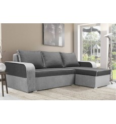 Canapé-lit réversible LIMA 230x140 cm anthracite et gris