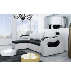 Canapé d'angle convertible réversible FARO 230x140 cm noir