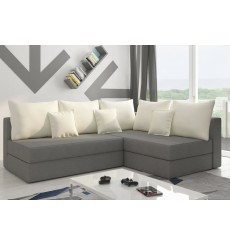 Canapé-lit Réversible PACOLI 215x140 cm gris et blanc
