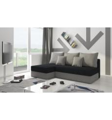 Canapé-lit Réversible PACOLI small 200x140 cm gris et noir