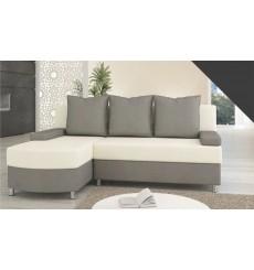 Canapé-lit Réversible HELIOS 200x155 cm gris et blanc