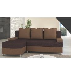 Canapé-lit Réversible HELIOS 200x155 cm marron
