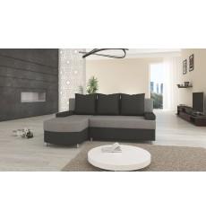 Canapé-lit Réversible HELIOS 200x155 cm gris et noir
