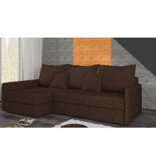 Canapé-lit Réversible ACADIA 208x140 cm en marron