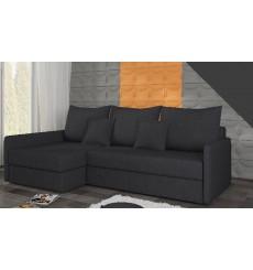 Canapé-lit Réversible ACADIA 208x140 cm en gris noir
