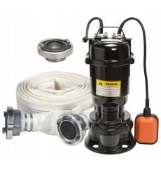 Pompe de relevage  broyeur submersible avec tuyaux 24m3/h