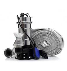 Pompe pour eaux sales flotteur broyeur 25m3/h 2900W Turbine 6 ailettes