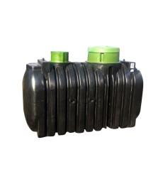 Cuve de stockage 3000L de récupération d'eau de pluie , 2 trappes à enterrer