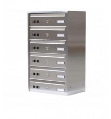 Boîtes aux lettres collectives en acier inoxydable pour 6 ou 7