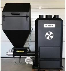 BARTMET 25-35 kW calefacción de aire pulsado con silo