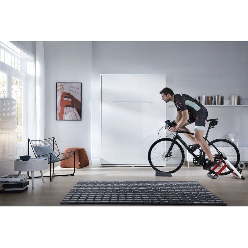 lit escamotable deneb vertical 120x200 cm en trois coloris. Black Bedroom Furniture Sets. Home Design Ideas