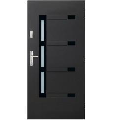 Porte d'entrée NADEL V 90 cm en acier inoxydable en 4 couleurs