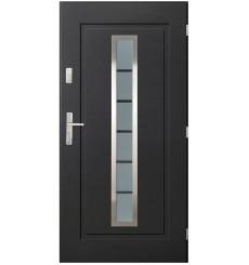 Porte d'entrée ILEA V 80 cm en acier inoxydable en plusieurs couleurs