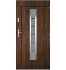 Porte d'entrée ILEA V 90 cm en acier inoxydable en plusieurs couleurs