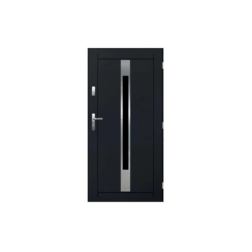 Porte d'entrée WORAKLS V 80 cm en acier inoxydable