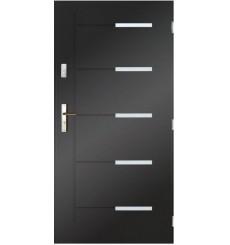 Porte d'entrée CANCUN  80 cm en acier inoxydable en plusieurs couleurs