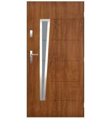 Porte d'entrée NIAGARA 90 cm en acier inoxydable en 4 couleurs