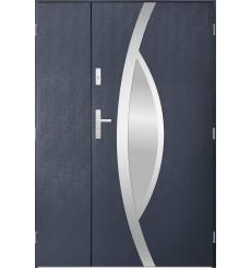 Porte d'entrée double PEGAS 80x40 cm anthracite