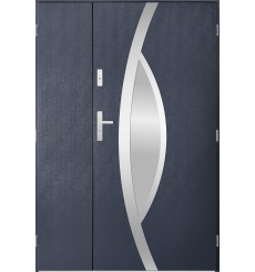 Porte d'entrée double PEGAS 90x40 cm anthracite
