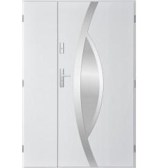 Porte d'entrée double PEGAS 80x40 cm blanc