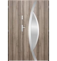 Porte d'entrée double PEGAS 90x40 cm chêne blanchi