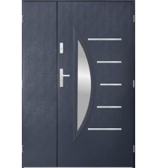 Porte d'entrée double CENTORO 90x40 cm anthracite