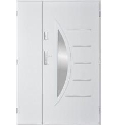 Porte d'entrée double CENTORO 90x40 cm blanc