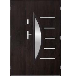 Porte d'entrée double CENTORO 90x40 cm wengé