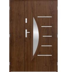 Porte d'entrée double CENTORO 90x40 cm noyer