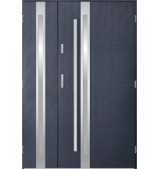Porte d'entrée double GALILÉE 80x40 cm anthracite