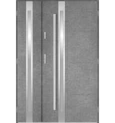 Porte d'entrée double GALILÉE 90x40 cm béton