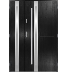 Porte d'entrée double GALILÉE 80x40 cm noir