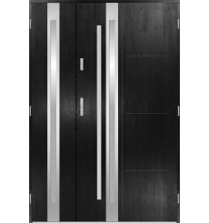 Porte d'entrée double GALILÉE 90x40 cm noir